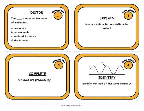 Waves and EMS Page 03 600x464 - Waves and Electromagnetic Spectrum: Physical Science Task Cards