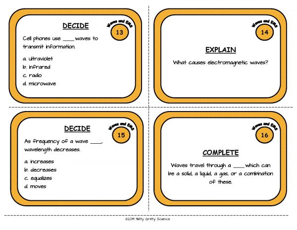 Waves and EMS Page 06 600x464 - Physical Science Task Card Bundle - 400+ task cards!