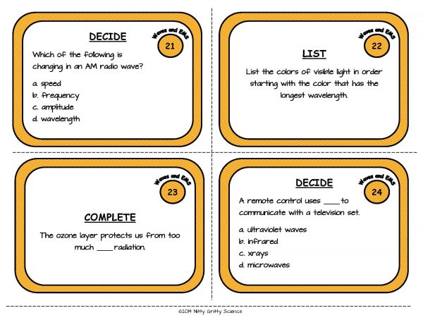 Waves and EMS Page 08 600x464 - Waves and Electromagnetic Spectrum: Physical Science Task Cards