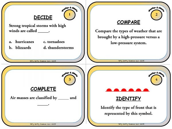 Weather and Climate Page 03 600x450 - Weather & Climate: Earth Science Task Cards