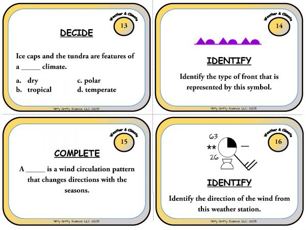 Weather and Climate Page 06 600x450 - Weather & Climate: Earth Science Task Cards