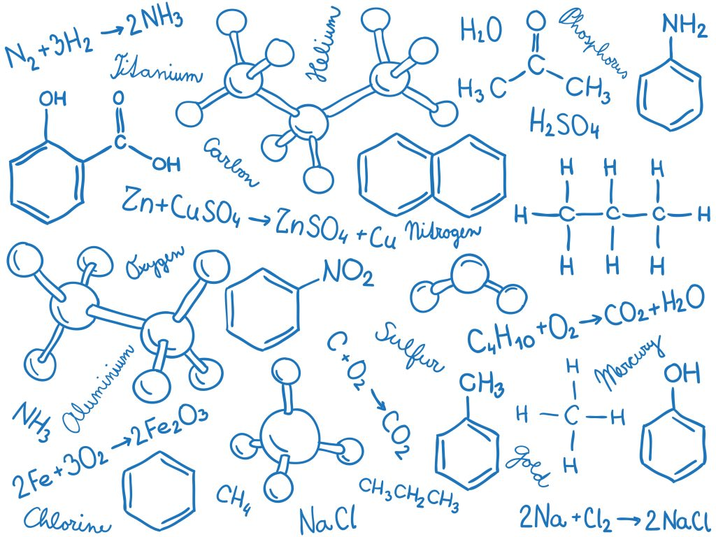 chemistry formulas background 1024x768 - Section 2: Writing Formulas and Naming Compounds