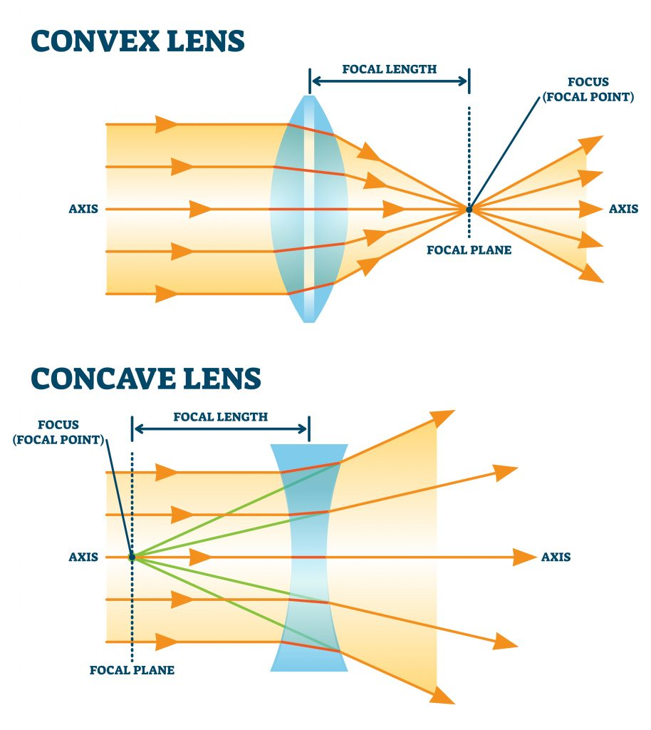 concave convex 914x1024 - Section 5: Lenses and Optical Instruments