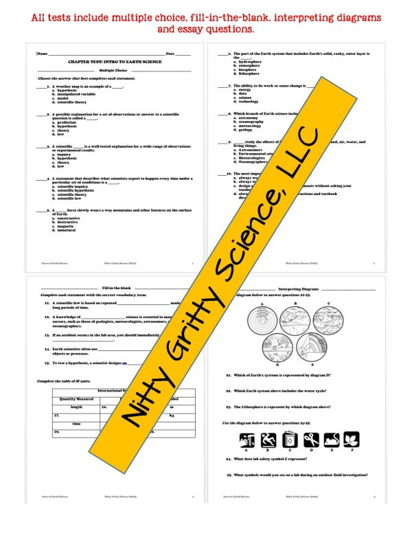 demoEarthScienceNotesPowerPointTestIntrotoEarthScienceEDITABLE2118390 Page 6 600x776 - Intro to Earth Science: Earth Science Notes, PowerPoint & Test ~ EDITABLE