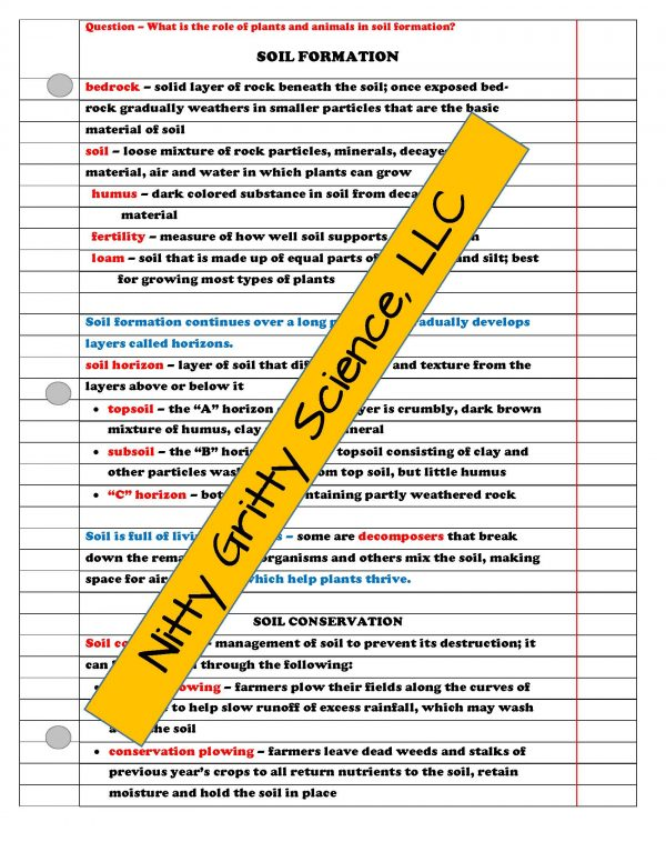 demoEarthSciencePowerPointNotesTestEarthsChangingSurfaceEDITABLE2208008 Page 3 600x776 - Earth's Changing Surface: Earth Science PowerPoint, Notes & Test ~ EDITABLE!