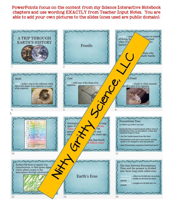 demoEarthSciencePowerPointNotesTestEarthsHistoryEDITABLE2209256.pdf Page 5 600x776 - Earth's History: Earth Science PowerPoint, Notes & Test ~ EDITABLE!