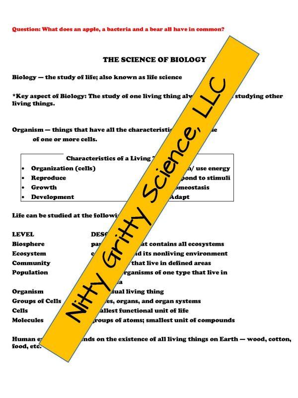 demoLifeScienceNotesPowerPointandTestIntrotoLifeScienceEDITABLE2302282 Page 4 600x800 - Intro to Life Science: Life Science PowerPoint, Notes and Test ~ EDITABLE!