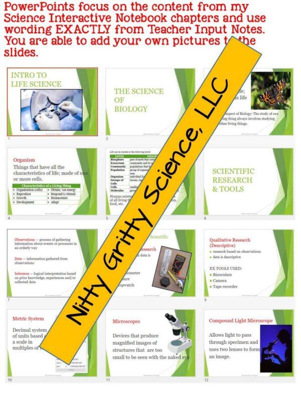 demoLifeScienceNotesPowerPointandTestIntrotoLifeScienceEDITABLE2302282 Page 5 600x800 - Intro to Life Science: Life Science PowerPoint, Notes and Test ~ EDITABLE!