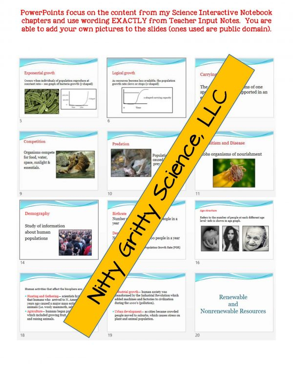 demoLifeScienceNotesPowerPointandTestPopulationDynamicsEDITABLE2347968 Page 5 600x776 - Population Dynamics: Life Science Notes, PowerPoint and Test ~ EDITABLE!