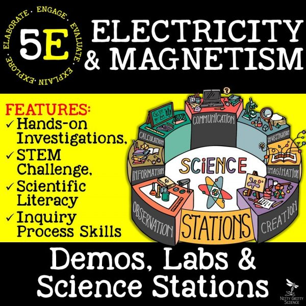 demoPreviewElectricityandMagnetism Page 01 600x600 - ELECTRICITY & MAGNETISM - Demos, Lab and Science Stations