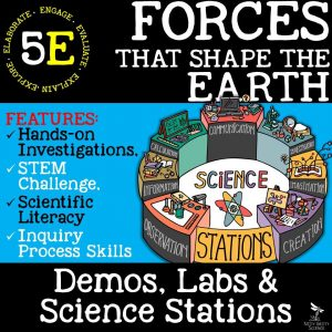 demoPreviewForcesthatShapetheEarth 1 300x300 - FORCES THAT SHAPE THE EARTH - Demo, Labs and Science Stations {Earth Science}