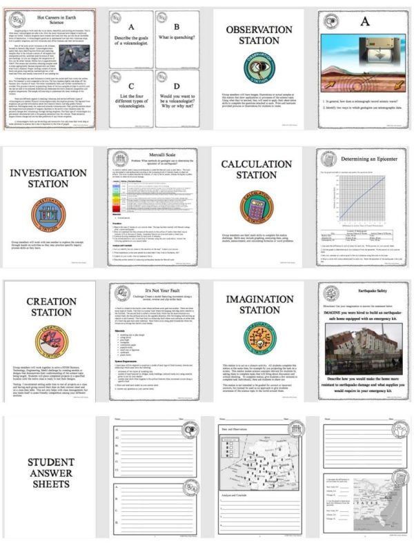 demoPreviewForcesthatShapetheEarth 1 Page 4 600x800 - FORCES THAT SHAPE THE EARTH - Demo, Labs and Science Stations {Earth Science}