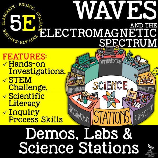demoPreviewWavesandElectromagneticSpectrum Page 1 600x600 - WAVES AND THE ELECTROMAGNETIC SPECTRUM - Demos, Labs and Science Stations