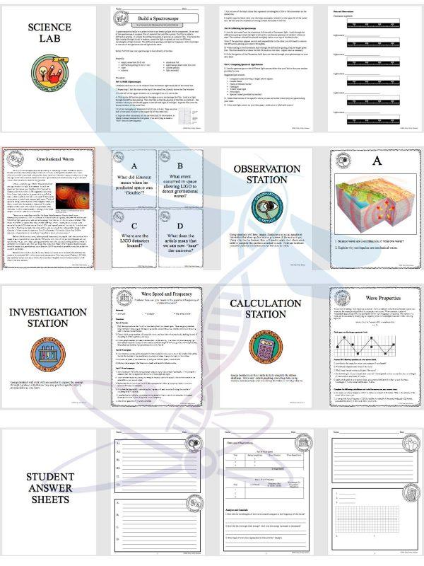 demoPreviewWavesandElectromagneticSpectrum Page 4 600x800 - WAVES AND THE ELECTROMAGNETIC SPECTRUM - Demos, Labs and Science Stations