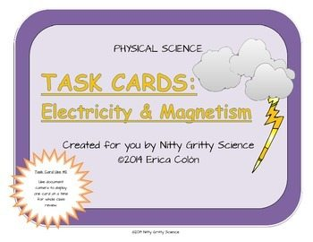 original 1149898 1 - Electricity and Magnetism: Physical Science Task Cards