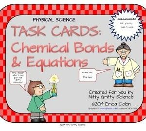 original 1199800 1 300x270 - Chemical Bonds and Equations: Physical Science Task Cards