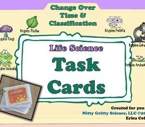 original 1618988 1 300x263 - Change Over Time & Classification - Life Science Task Cards