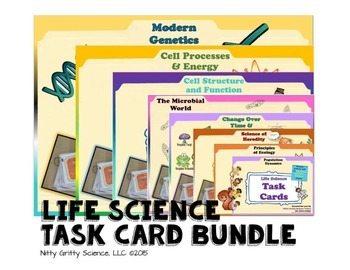 original 1634615 1 - Life Science Task Card BUNDLE