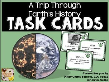 original 2174627 1 - A Trip Through Earth's History: Earth Science Task Cards