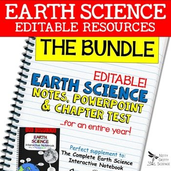 original 2199765 1 - Earth Science Curriculum: PowerPoints, Notes, Chapter Tests Bundle ~ EDITABLE