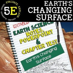 original 2208008 1 300x300 - Earth's Changing Surface: Earth Science PowerPoint, Notes & Test ~ EDITABLE!