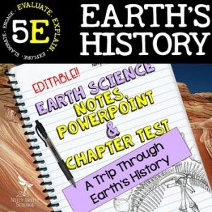 original 2209256 1 300x300 - Earth's History: Earth Science PowerPoint, Notes & Test ~ EDITABLE!