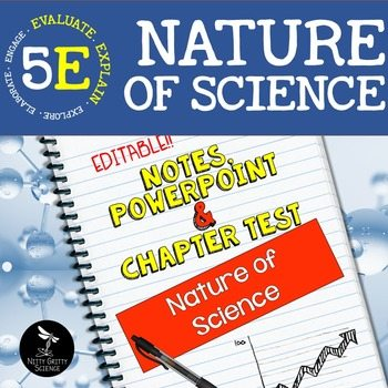 original 2294482 1 - Nature of Science: PowerPoint, Notes & Test ~ EDITABLE!