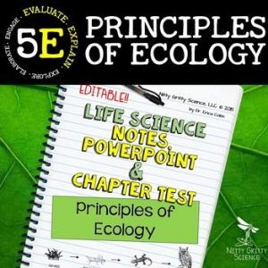 original 2302341 1 300x300 - Principles of Ecology: Life Science PowerPoint, Notes and Test ~ EDITABLE!