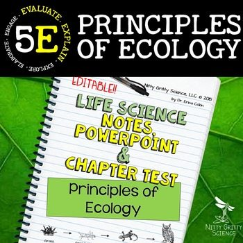 original 2302341 1 - Principles of Ecology: Life Science PowerPoint, Notes and Test ~ EDITABLE!