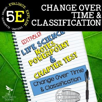 original 2369898 1 - Change Over Time & Classification: Life Science Notes, PowerPoint & Test~EDITABLE