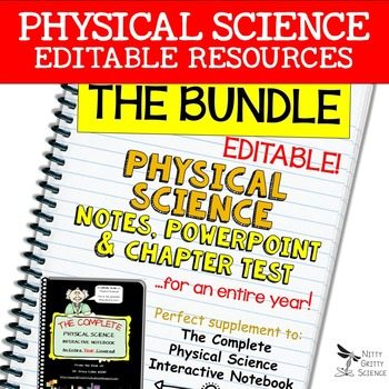 original 2381059 1 - Physical Science Curriculum - Notes, PowerPoint & Chapter Tests ~EDITABLE Bundle