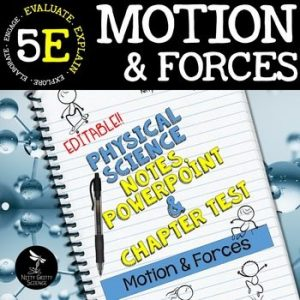 original 2405912 1 300x300 - Motion & Forces: Physical Science Notes, PowerPoint & Test ~ EDITABLE