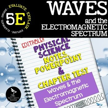 original 2411453 1 - Waves & Electromagnetic Spectrum: Notes, PowerPoint & Test ~EDITABLE