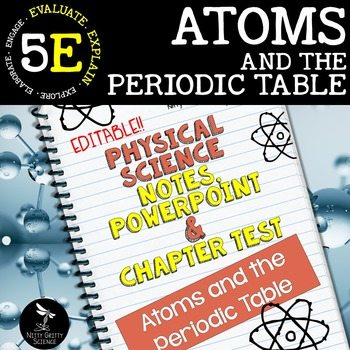 original 2414446 1 - Atoms and the Periodic Table: PS Notes, PowerPoint & Test ~ EDITABLE