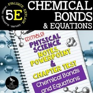original 2417345 1 300x300 - Chemical Bonds and Equations: PS Notes, PowerPoint & Test ~ EDITABLE