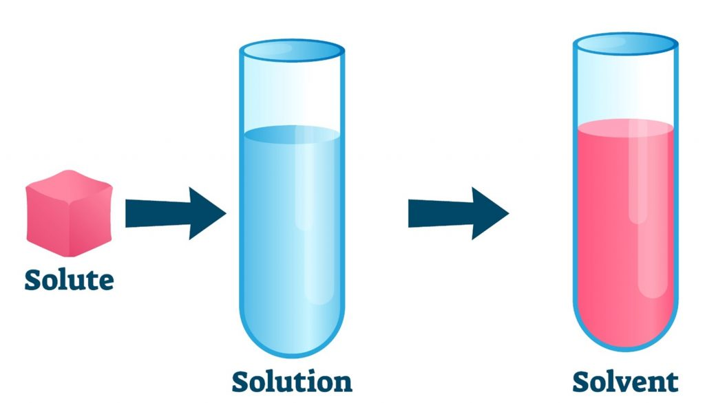 solutesolutionsolvent 1024x586 - Section 1: Solutions, Solubility, and Concentration