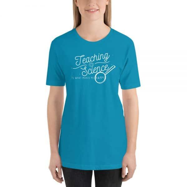 unisex staple t shirt aqua front 610d64b8d9149 600x600 - Teaching Science Makes Me Happy