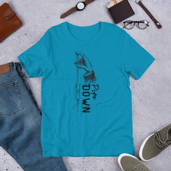 unisex staple t shirt aqua front 610d6d90c42b5 600x600 - Pipe Down