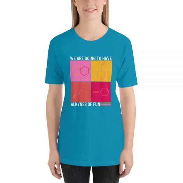 unisex staple t shirt aqua front 610d790ca814a 600x600 - Alkynes of Fun