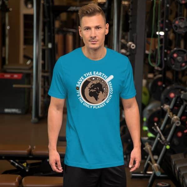 unisex staple t shirt aqua front 610d7e28a354d 600x600 - Save The Earth
