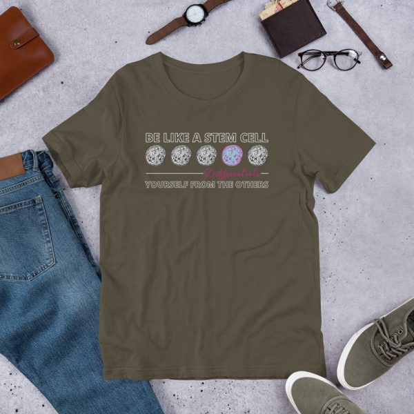unisex staple t shirt army front 610d5ff577480 600x600 - Be Like a Stem Cell