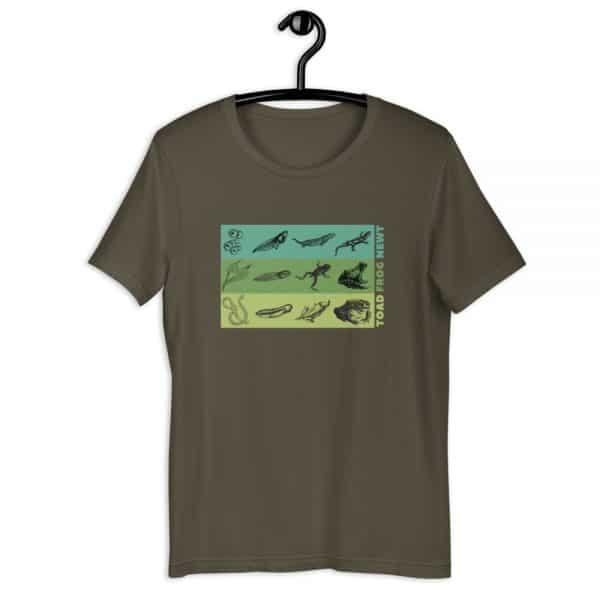 unisex staple t shirt army front 610d6e6489d06 600x600 - Amphibian Life Cycle