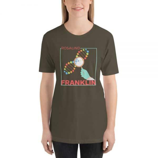 unisex staple t shirt army front 610d839135e76 600x600 - Rosalind Franklin
