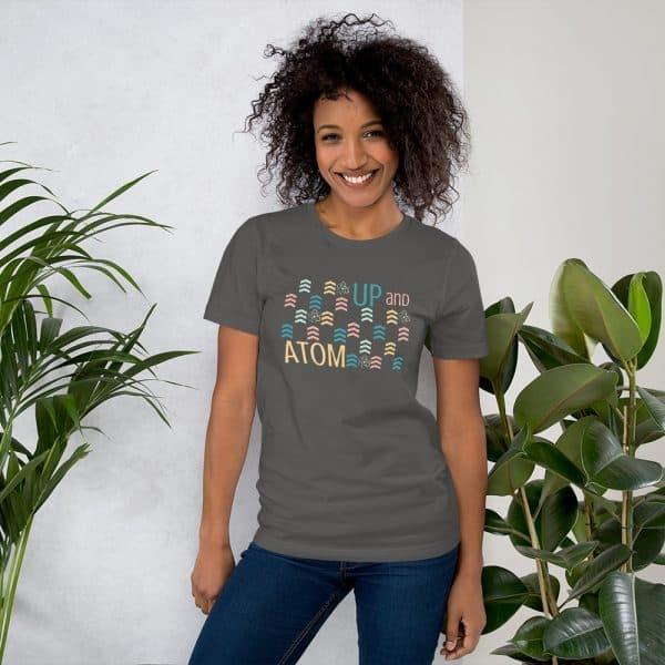 unisex staple t shirt asphalt front 610d5d5a6587d 600x600 - Up and Atom