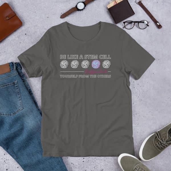 unisex staple t shirt asphalt front 610d5ff578cd6 600x600 - Be Like a Stem Cell