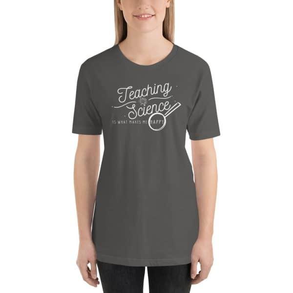 unisex staple t shirt asphalt front 610d64b8d5b84 600x600 - Teaching Science Makes Me Happy