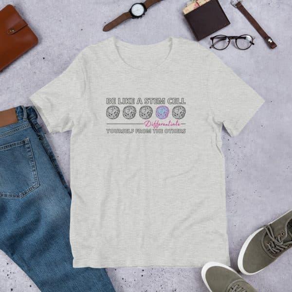 unisex staple t shirt athletic heather front 610d62de57e02 600x600 - Be Like a Stem Cell