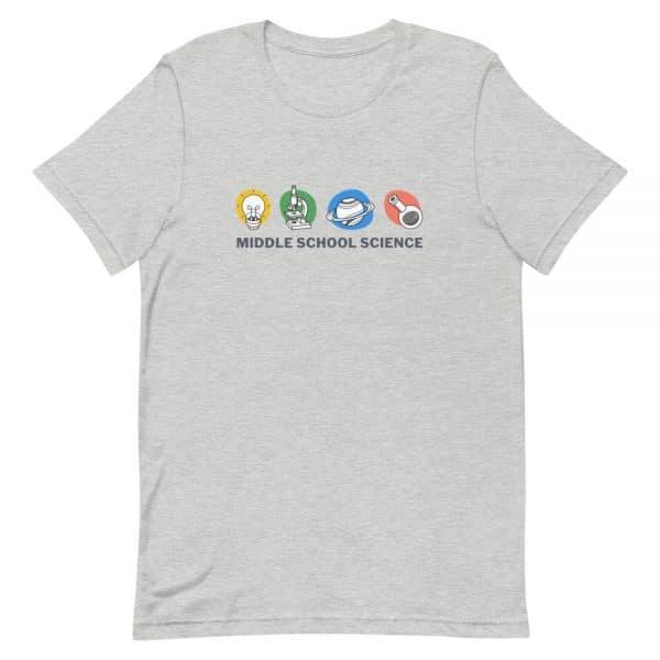 unisex staple t shirt athletic heather front 610d77a44c867 600x600 - Middle School Science Club Shirt