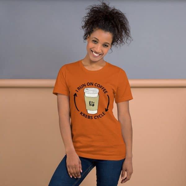 unisex staple t shirt autumn front 610d66d647084 600x600 - I Run on the Krebs Cycle