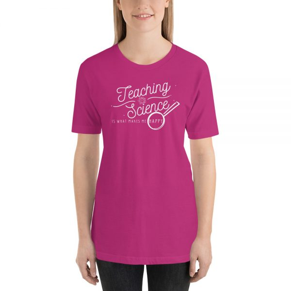 unisex staple t shirt berry front 610d64b8d4bdb 600x600 - Teaching Science Makes Me Happy